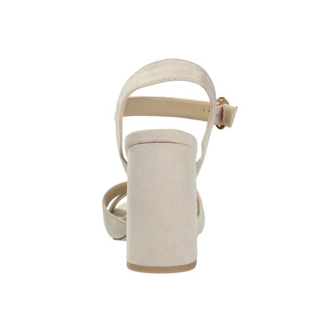 Dámské sandály na masivním podpatku bata, béžová, 769-8602 - 17