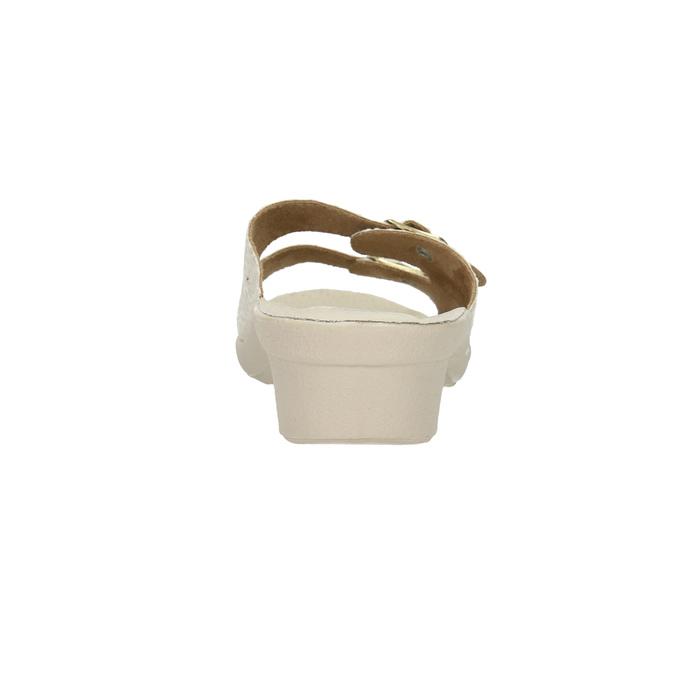 Dámská domácí obuv na podpatku bata, béžová, 579-8611 - 17
