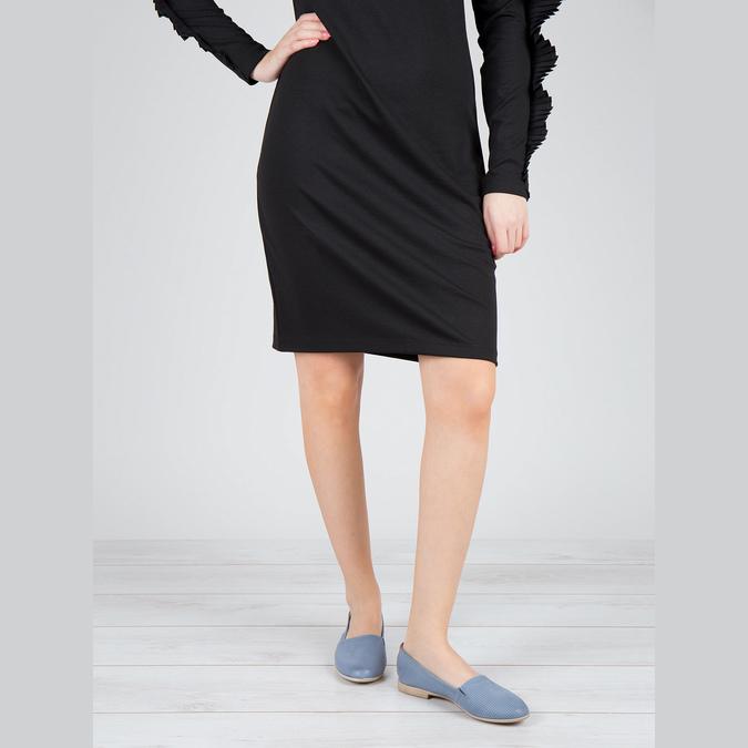 Dámská obuv ve stylu Slip-on bata, modrá, 516-9602 - 18