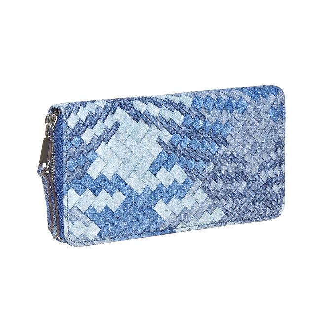 Modrá dámská peněženka se vzorem bata, modrá, 941-9149 - 13