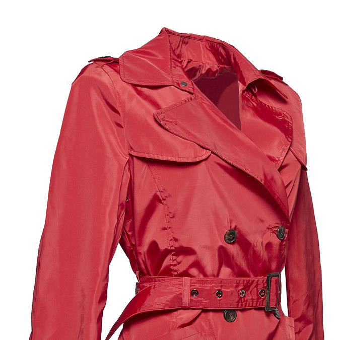 Dámský červený trenčkot bata, červená, 979-5205 - 16