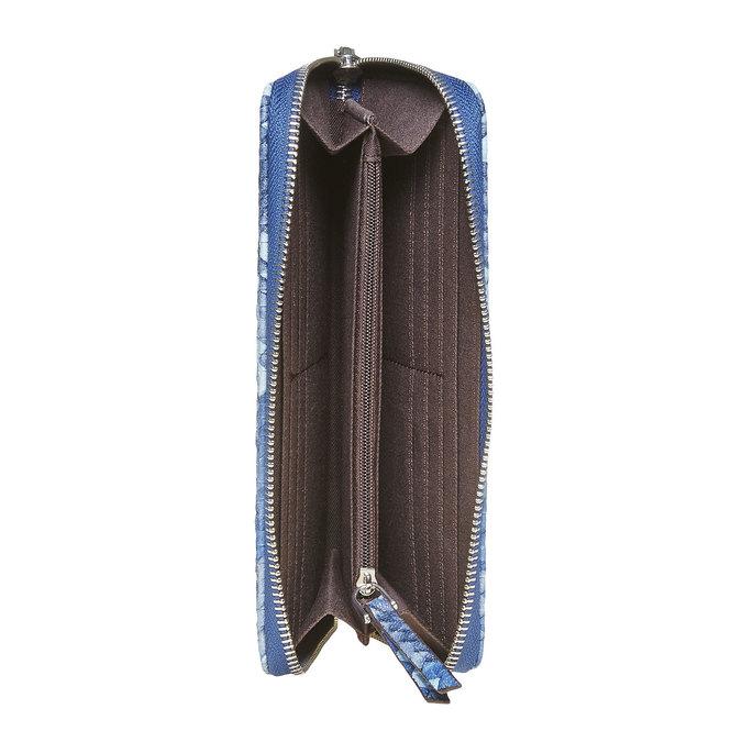 Modrá dámská peněženka se vzorem bata, modrá, 941-9149 - 15