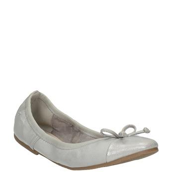 Dámské baleríny s pružným lemem bata, šedá, 521-1601 - 13