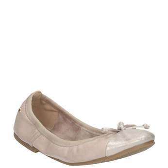 Dámské baleríny s pružným lemem bata, růžová, 521-8601 - 13