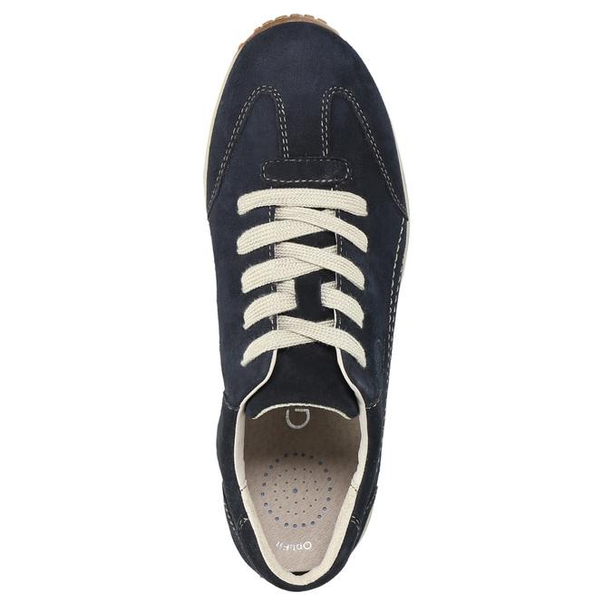 Dámské kožené tenisky gabor, modrá, 626-9205 - 19