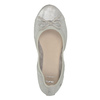 Dámské baleríny s pružným lemem bata, šedá, 521-1601 - 19