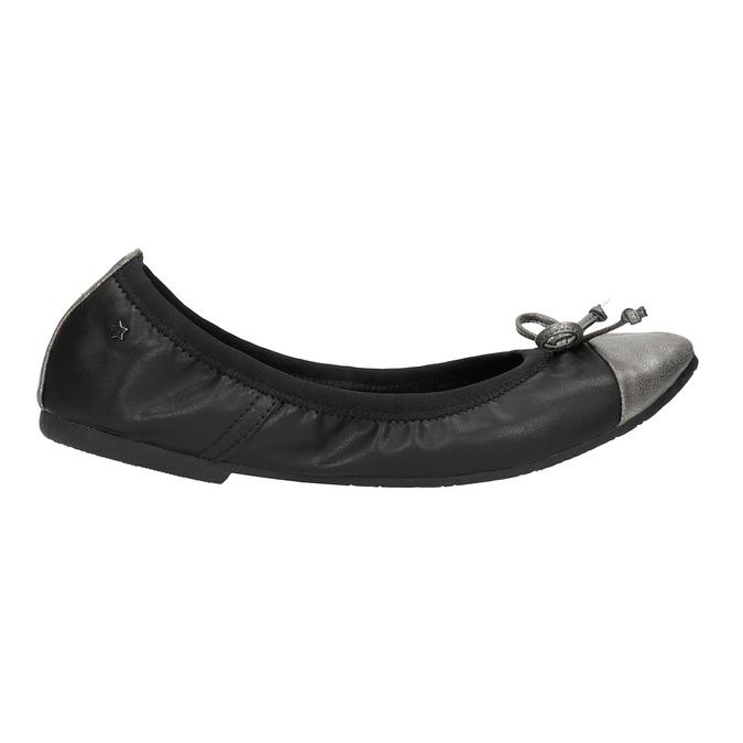 Dámské baleríny s pružným lemem bata, černá, 521-2601 - 15