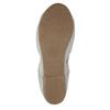 Dámské baleríny s pružným lemem bata, šedá, 521-1601 - 26