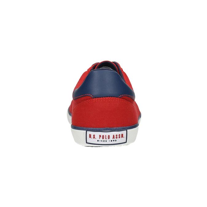 Ležérní červené tenisky u-s-polo-assn-, červená, 829-5016 - 17