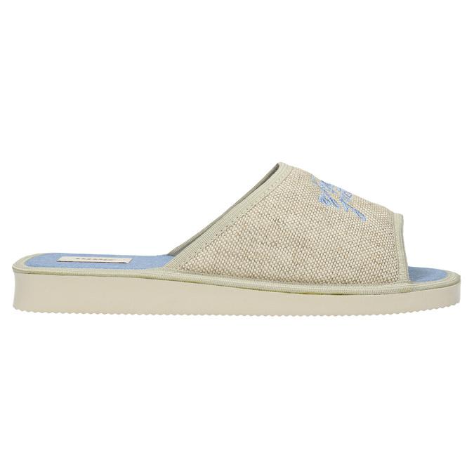 Domácí obuv s nápisem bata, modrá, 579-9618 - 15