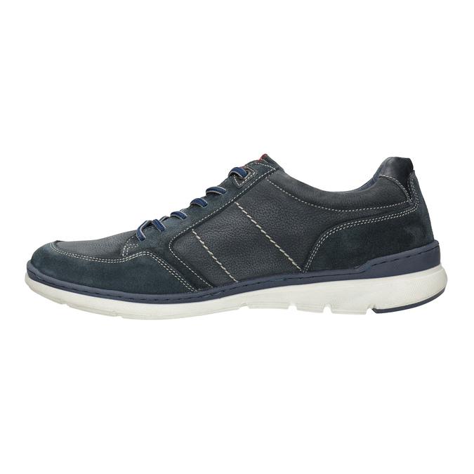 Ležérní tenisky z broušené kůže bata, modrá, 846-9639 - 26