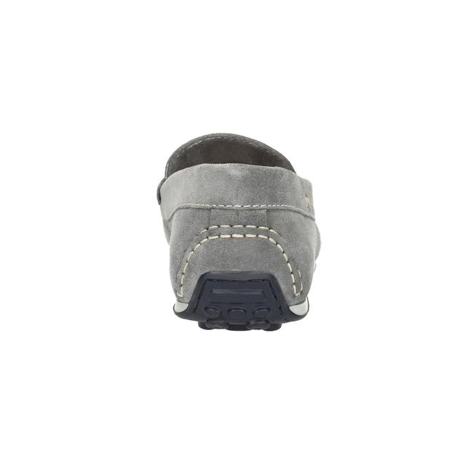 Pánské mokasíny z broušené kůže bata, šedá, 853-2614 - 17