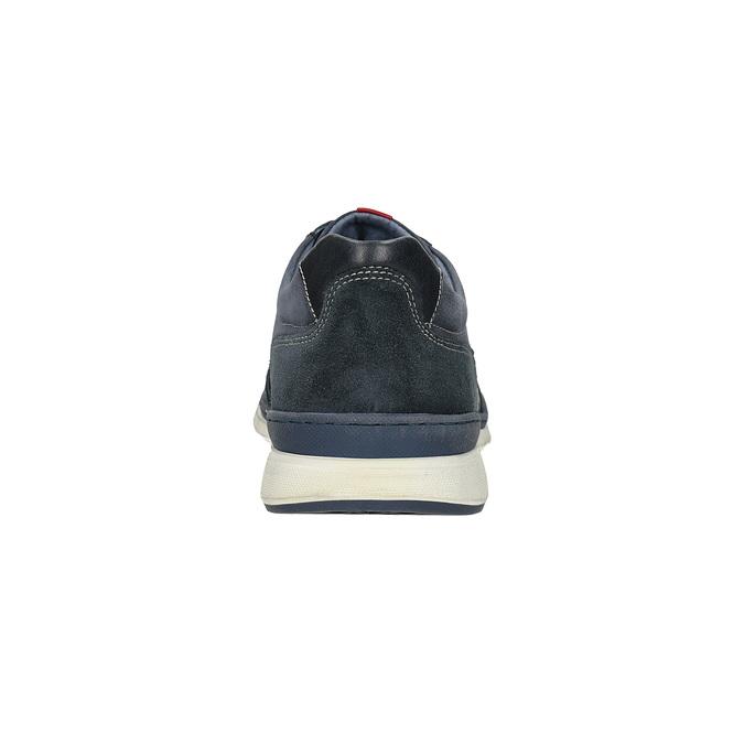 Ležérní tenisky z broušené kůže bata, modrá, 846-9639 - 15
