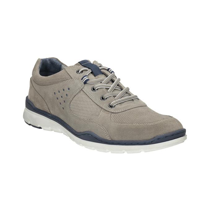 Ležérní kožené tenisky bata, šedá, 843-2627 - 13