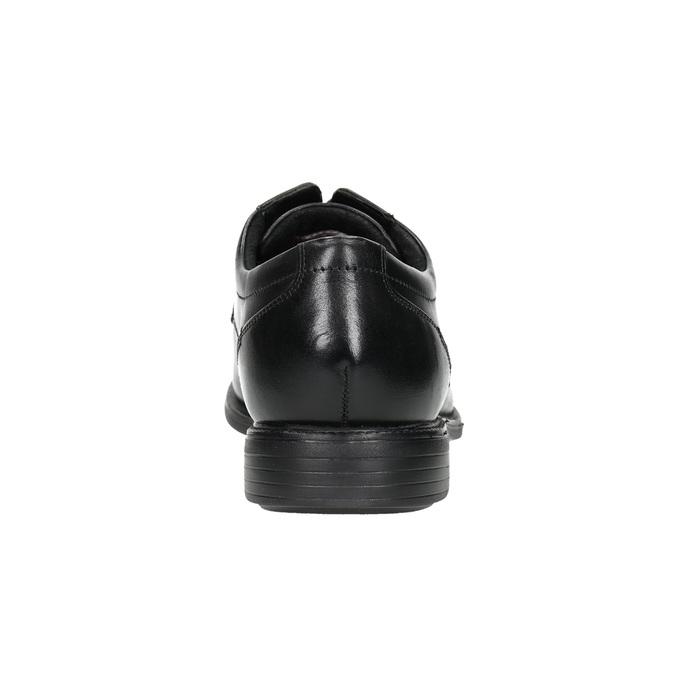 Kožené černé polobotky rockport, černá, 824-6127 - 17