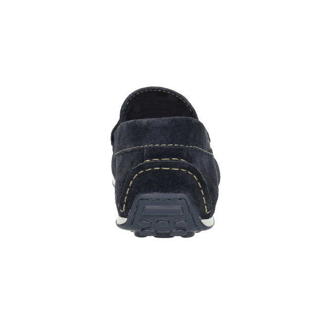 Mokasíny z broušené kůže bata, modrá, 853-9614 - 17