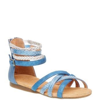 Sandály s pásky kolem kotníku bullboxer, modrá, 461-9001 - 13