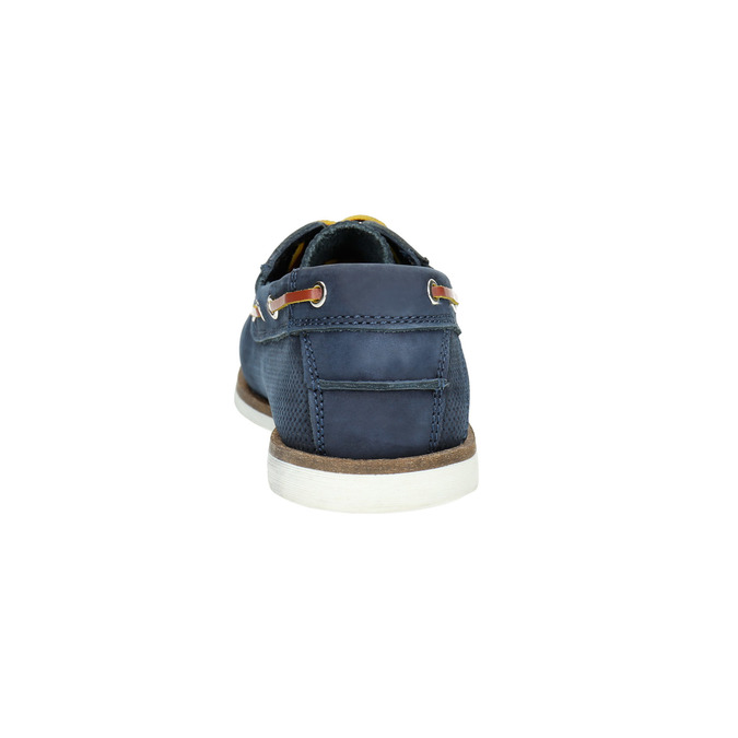 Kožené Boat Shoes bata, modrá, 2021-856-9604 - 17