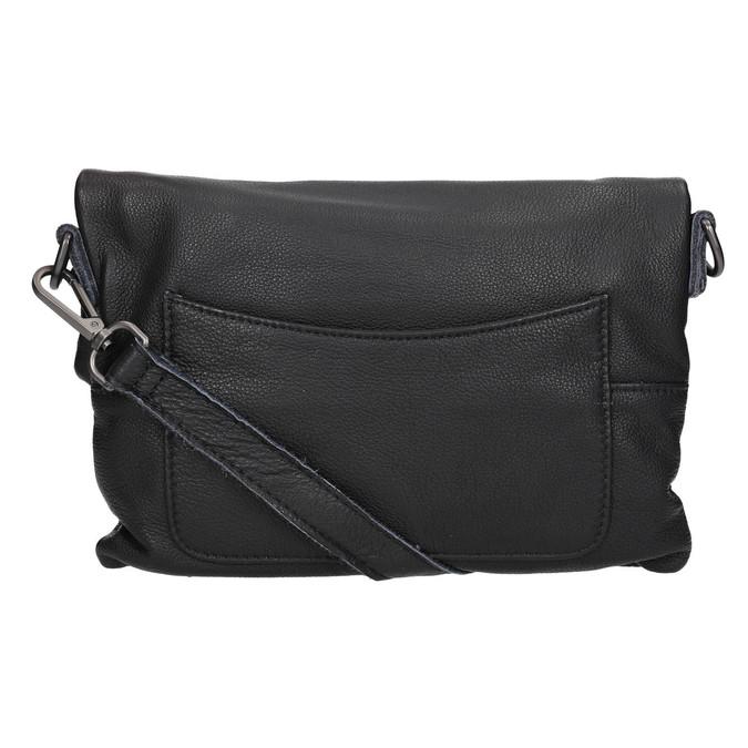 Černá kožená Crossbody kabelka fredsbruder, černá, 964-6037 - 26