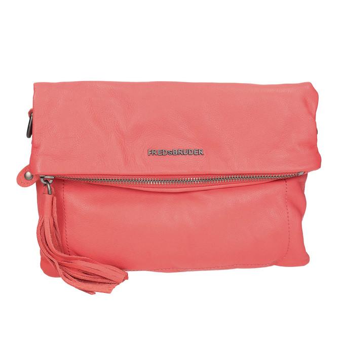 Kožená dámská Crossbody kabelka fredsbruder, červená, 964-5037 - 19