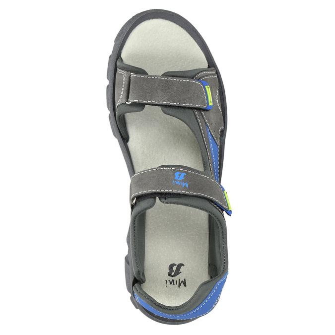 Dětské sandály na suché zipy mini-b, šedá, 461-2605 - 19