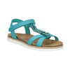 Dětské sandály s kytičkami mini-b, tyrkysová, 361-9601 - 13