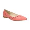 Kožené baleríny do špičky bata, růžová, 524-0604 - 13