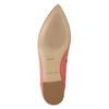 Kožené baleríny do špičky bata, růžová, 524-0604 - 19