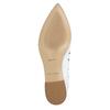 Bílé kožené baleríny bata, bílá, 524-1604 - 19