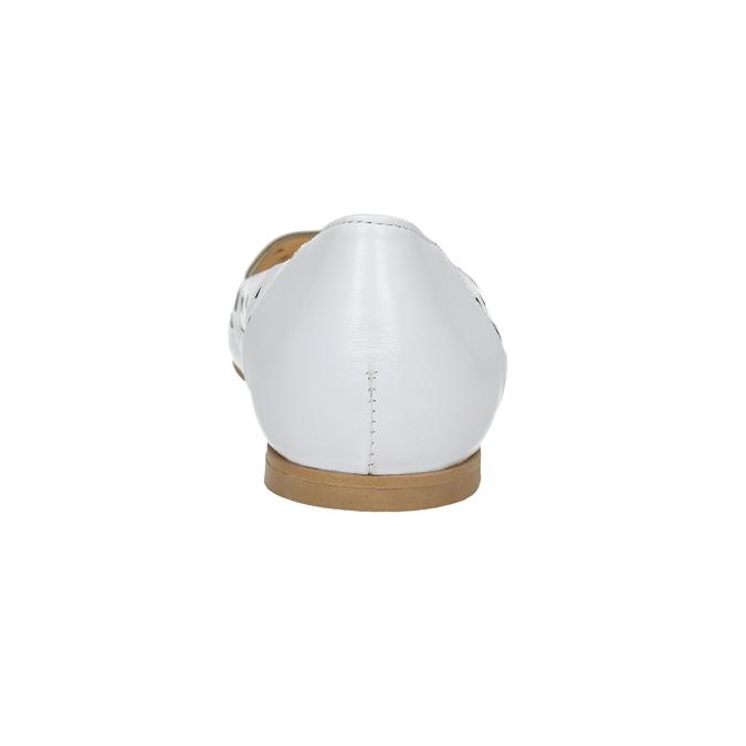 Bílé kožené baleríny bata, bílá, 524-1604 - 17