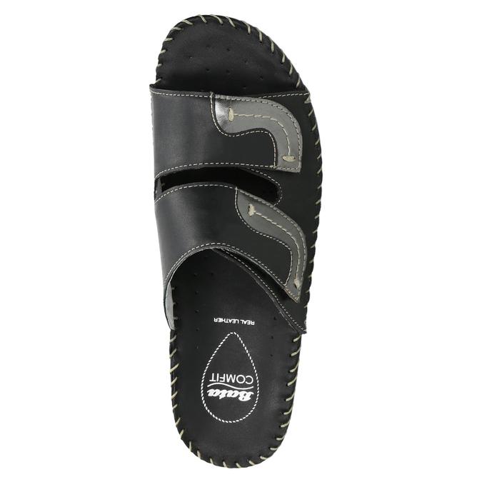 Kožená domácí obuv comfit, černá, 674-6600 - 19