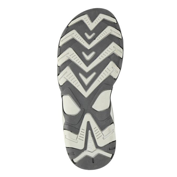 Kožené dětské sandály mini-b, šedá, 463-2602 - 26
