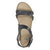 Kožené sandály na výrazné podešvi bata, modrá, 566-9606 - 19