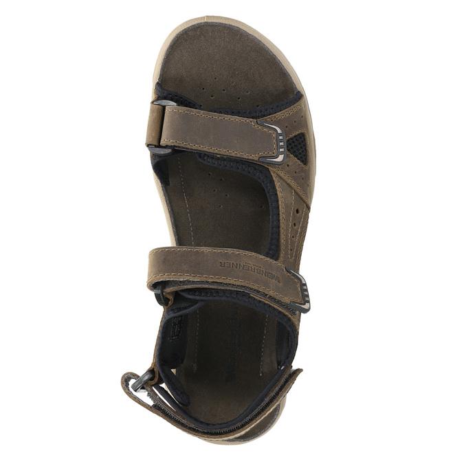 Pánské kožené sandály weinbrenner, hnědá, 866-3630 - 19