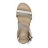 Kožené sandály na výrazné podešvi bata, šedá, 566-2606 - 19