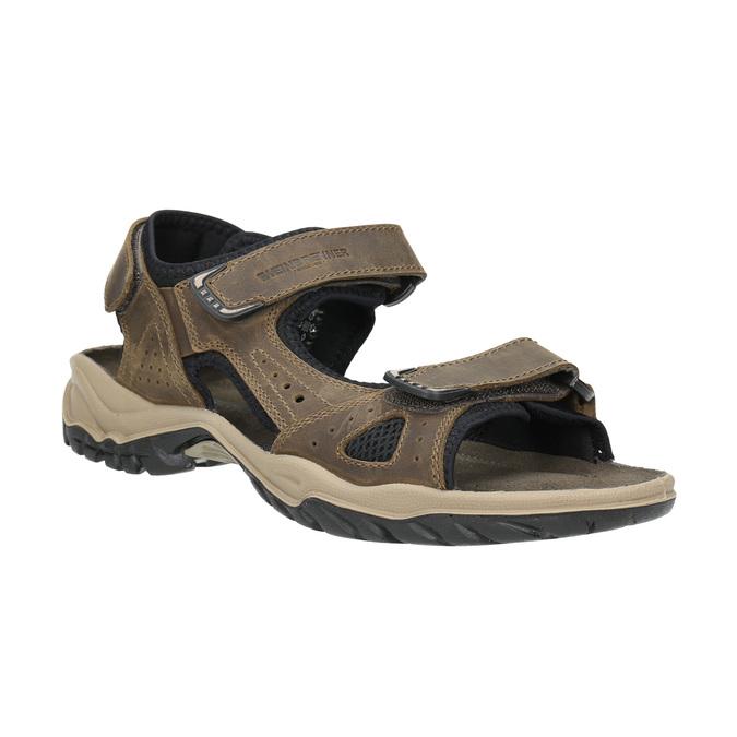 Pánské kožené sandály weinbrenner, hnědá, 866-3630 - 13