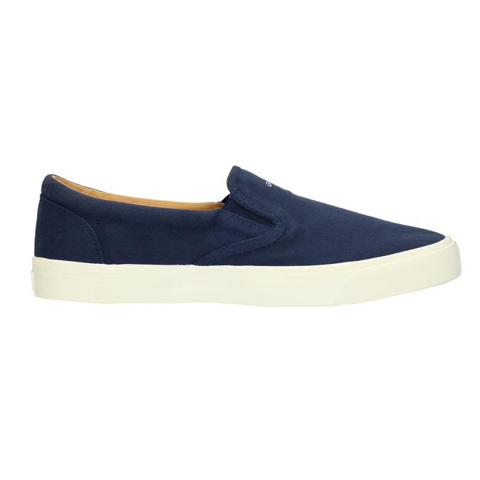 Pánská modrá Slip-on obuv gant, modrá, 819-9033 - 15