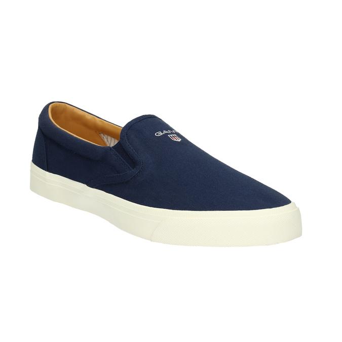 Pánská modrá Slip-on obuv gant, modrá, 819-9033 - 13