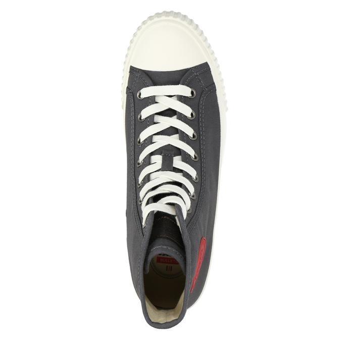 Pánské kotníčkové tenisky bata-bullets, šedá, 889-2293 - 26