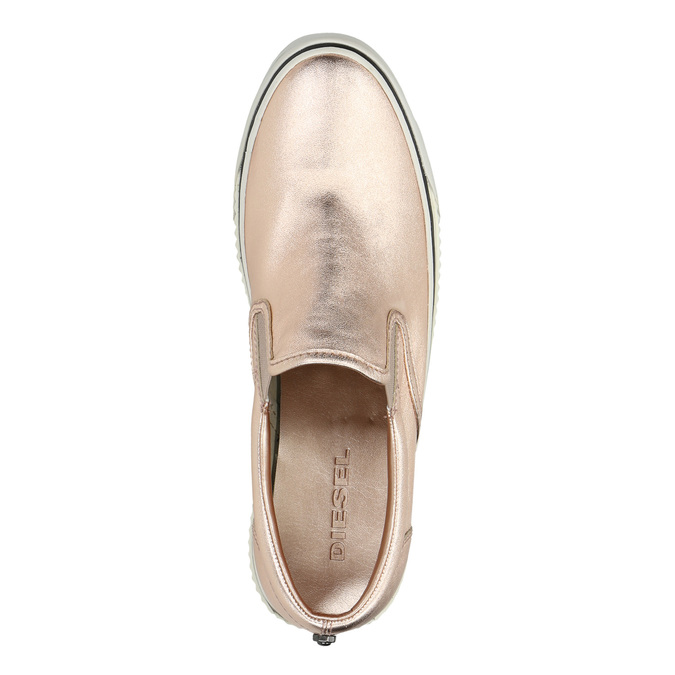 Zlatá dámská obuv ve stylu Slip-on diesel, růžová, 504-8437 - 19