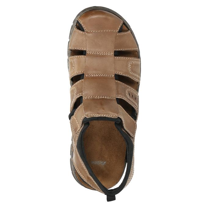 Kožené pánské sandály bata, hnědá, 856-4600 - 19