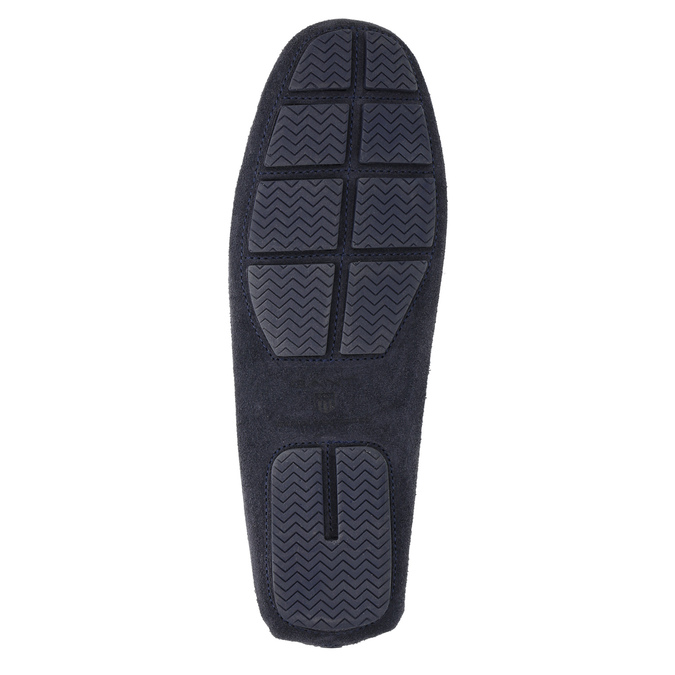 Mokasíny z broušené kůže gant, modrá, 813-9030 - 26