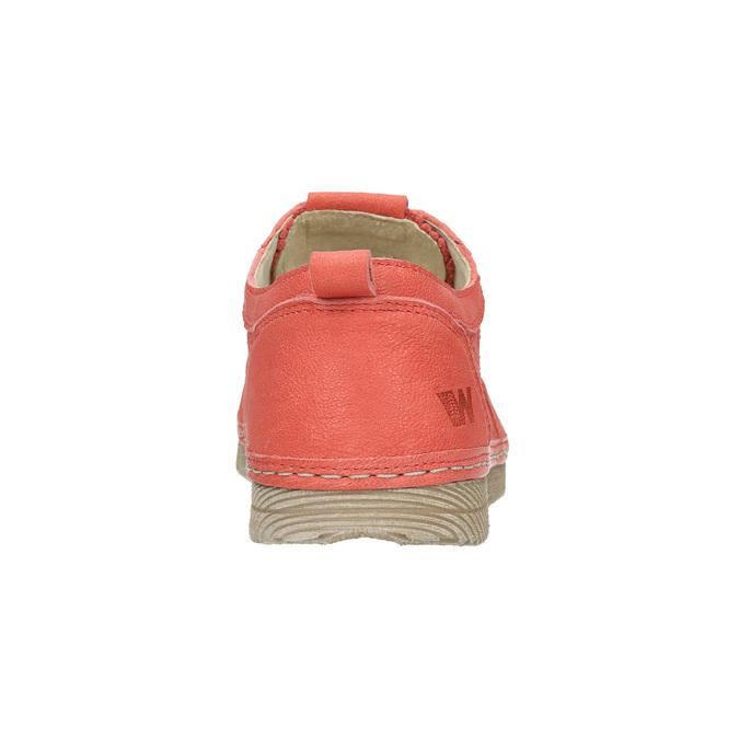 Dámské kožené polobotky červené weinbrenner, oranžová, 526-5636 - 17