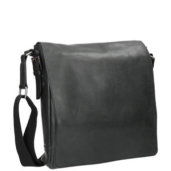 Unisex kožená Crossbody taška bata, černá, 964-6222 - 13