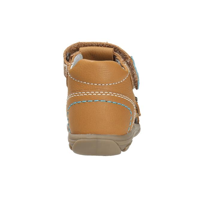 Dětské kožené sandály richter, hnědá, 114-3019 - 17