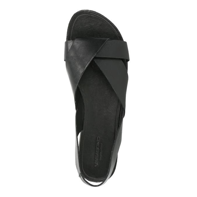 Kožené dámské sandály vagabond, černá, 564-6015 - 19