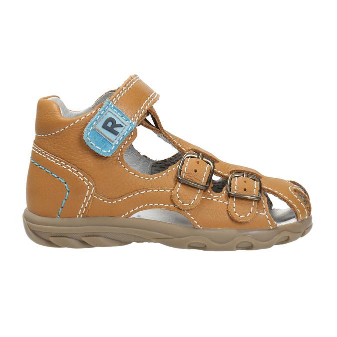 Dětské kožené sandály richter, hnědá, 114-3019 - 15