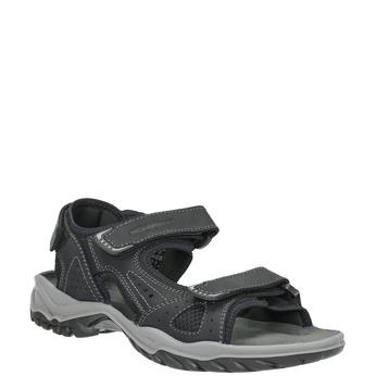 Kožené pánské sandály weinbrenner, černá, 866-6630 - 13
