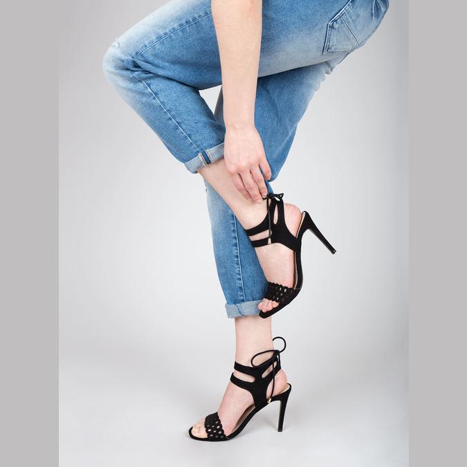Černé sandály na jehlovém podpatku bata, černá, 769-6603 - 18
