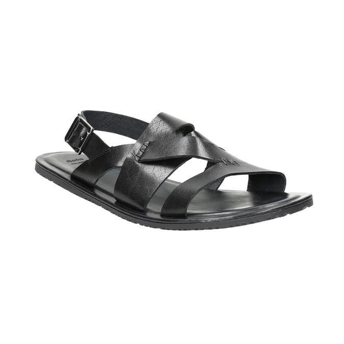 Pánské kožené sandály černé bata, 2021-864-6604 - 13